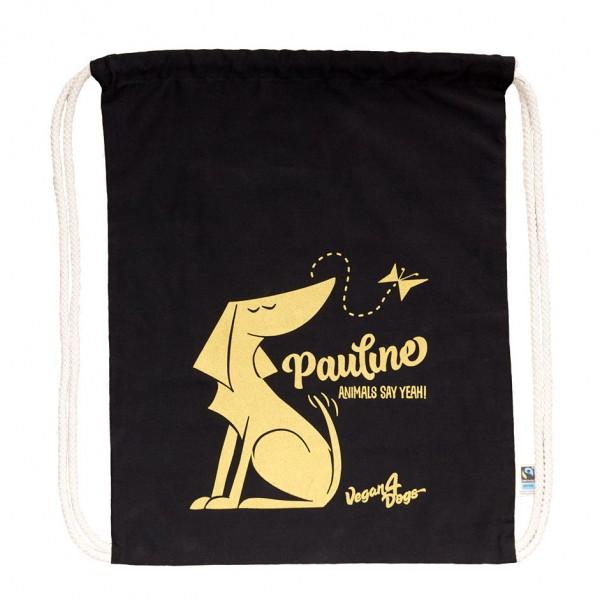 Pauline Black Bag Gold Print - Fine Cotton