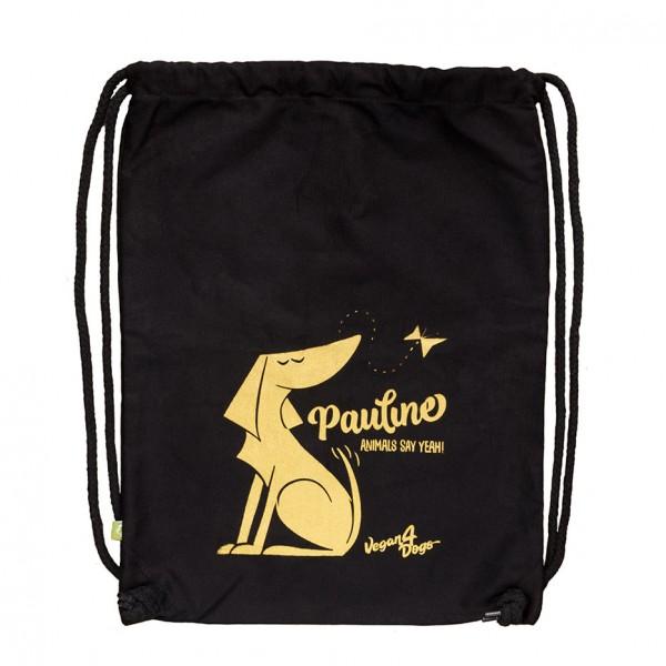 Pauline Black Bag Gold Print - Rustic Cotton
