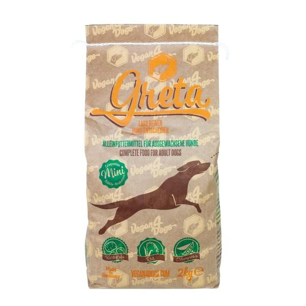 Veganes Hundefutter Greta 2kg Kleine Kroketten